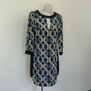 Geometric Mod Trina Turk Shift Dress
